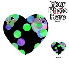 Green decorative circles Playing Cards 54 (Heart)