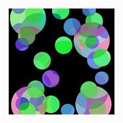 Green decorative circles Medium Glasses Cloth