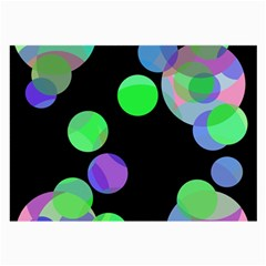 Green decorative circles Large Glasses Cloth