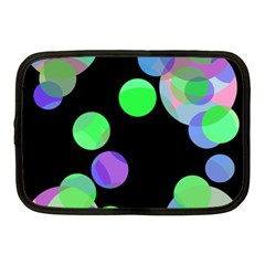 Green decorative circles Netbook Case (Medium)