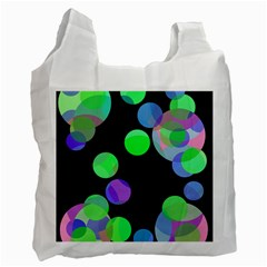 Green decorative circles Recycle Bag (One Side)