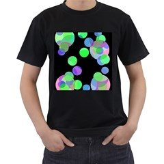 Green decorative circles Men s T-Shirt (Black)