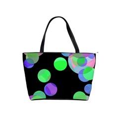 Green decorative circles Shoulder Handbags