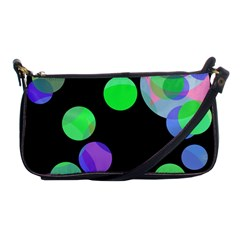 Green decorative circles Shoulder Clutch Bags