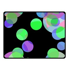 Green decorative circles Fleece Blanket (Small)