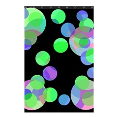 Green decorative circles Shower Curtain 48  x 72  (Small)