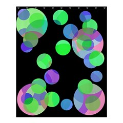 Green decorative circles Shower Curtain 60  x 72  (Medium)