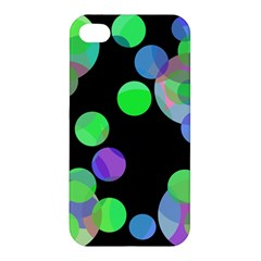 Green decorative circles Apple iPhone 4/4S Hardshell Case