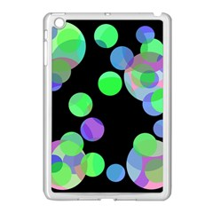 Green decorative circles Apple iPad Mini Case (White)
