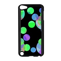 Green decorative circles Apple iPod Touch 5 Case (Black)