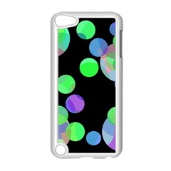 Green decorative circles Apple iPod Touch 5 Case (White)
