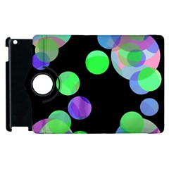 Green decorative circles Apple iPad 3/4 Flip 360 Case