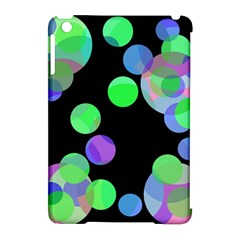 Green decorative circles Apple iPad Mini Hardshell Case (Compatible with Smart Cover)