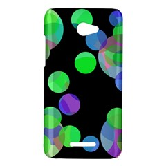 Green decorative circles HTC Butterfly X920E Hardshell Case