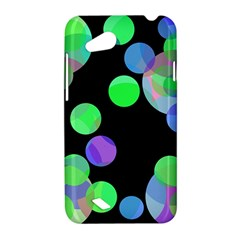 Green decorative circles HTC Desire VC (T328D) Hardshell Case