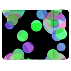 Green decorative circles Samsung Galaxy Tab 7  P1000 Flip Case