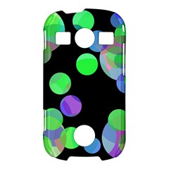 Green decorative circles Samsung Galaxy S7710 Xcover 2 Hardshell Case