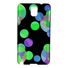Green decorative circles Samsung Galaxy Note 3 N9005 Hardshell Case