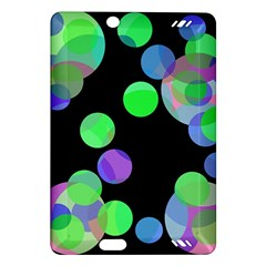 Green decorative circles Amazon Kindle Fire HD (2013) Hardshell Case