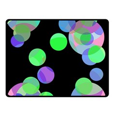 Green decorative circles Double Sided Fleece Blanket (Small)