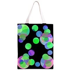 Green decorative circles Classic Light Tote Bag