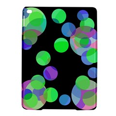 Green decorative circles iPad Air 2 Hardshell Cases