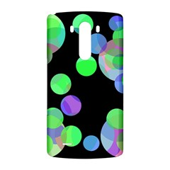 Green decorative circles LG G3 Back Case