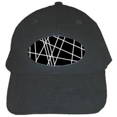 Black and white simple design Black Cap