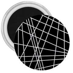 Black and white simple design 3  Magnets
