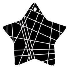 Black and white simple design Ornament (Star)