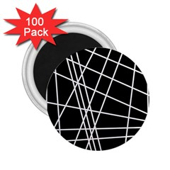Black and white simple design 2.25  Magnets (100 pack)