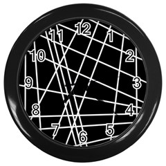 Black and white simple design Wall Clocks (Black)