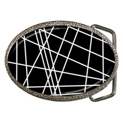 Black and white simple design Belt Buckles