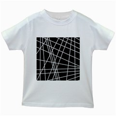 Black and white simple design Kids White T-Shirts