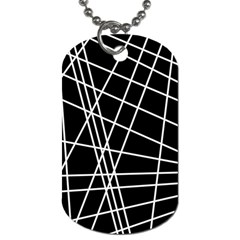 Black and white simple design Dog Tag (Two Sides)