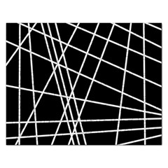 Black and white simple design Rectangular Jigsaw Puzzl