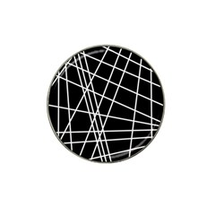 Black and white simple design Hat Clip Ball Marker