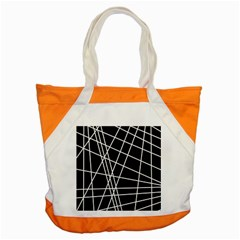 Black and white simple design Accent Tote Bag
