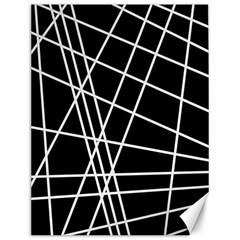 Black and white simple design Canvas 12  x 16