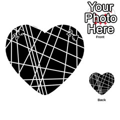 Black and white simple design Playing Cards 54 (Heart)