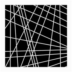 Black and white simple design Medium Glasses Cloth