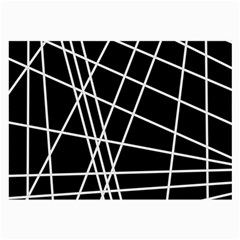 Black and white simple design Large Glasses Cloth (2-Side)