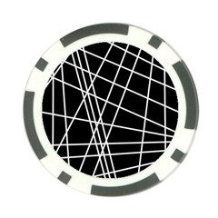 Black and white simple design Poker Chip Card Guards