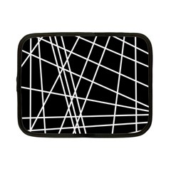 Black and white simple design Netbook Case (Small)
