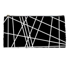 Black and white simple design Pencil Cases