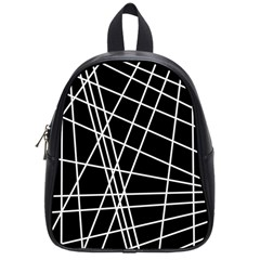 Black and white simple design School Bags (Small)