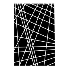 Black and white simple design Shower Curtain 48  x 72  (Small)