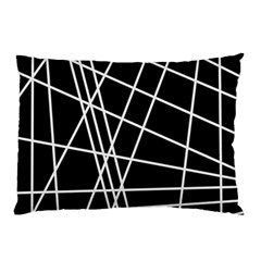 Black and white simple design Pillow Case (Two Sides)