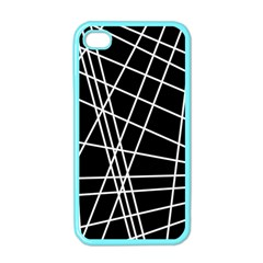 Black and white simple design Apple iPhone 4 Case (Color)