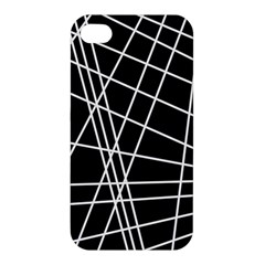 Black and white simple design Apple iPhone 4/4S Hardshell Case